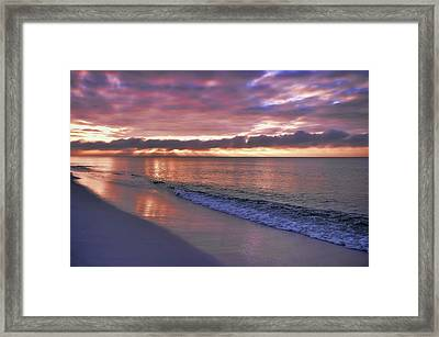 Sunrise On Navarre Beach Framed Print