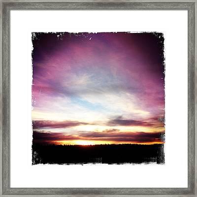 Sunrise On Ridge Framed Print