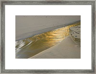 Framed Print featuring the photograph Sunrise On Stream-2- St Lucia. by Chester Williams