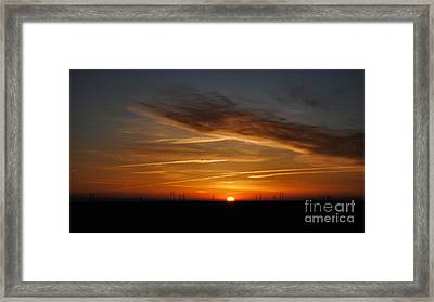 Sunrise On The 505 Framed Print