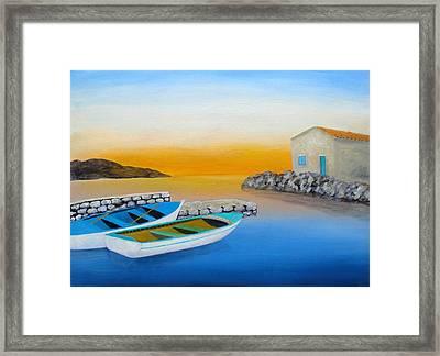 Sunrise On The Adriatic Framed Print