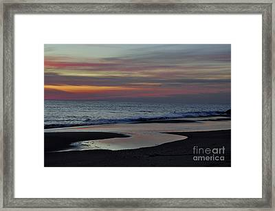 Sunrise On The Beach Framed Print by Tamera James