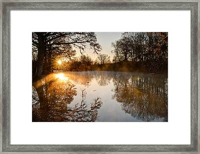 Sunrise On The Guadalupe Framed Print
