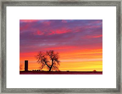 Sunrise On The Range Framed Print