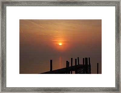 Sunrise On The River Framed Print