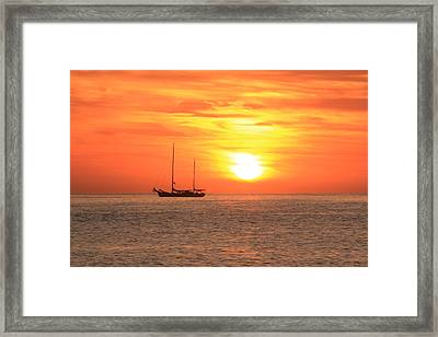 Sunrise On The Sea Of Cortez Framed Print by Roupen  Baker
