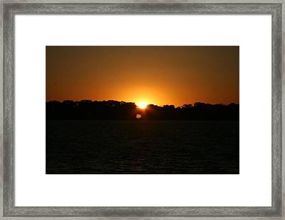 Sunrise On West Lake Okoboji Framed Print by Amelia Painter