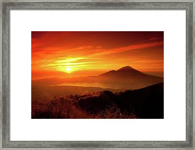 Sunrise Oover Mountain Landscape Framed Print by Dennis Stauffer / www.zoomion.ch