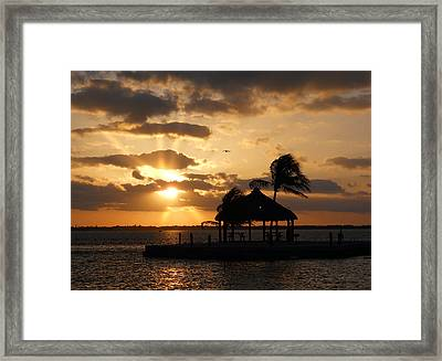 Framed Print featuring the photograph Sunrise Over Bay by Clara Sue Beym