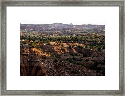 Sunrise Over Caprock Canyons State Park Framed Print by Melany Sarafis