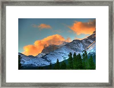 Sunrise Over Crowsnest Pass, Border Framed Print by Robert Postma