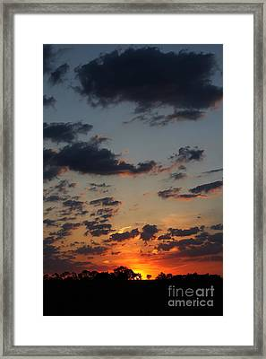 Framed Print featuring the photograph Sunrise Over Field by Everett Houser