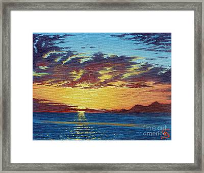 Sunrise Over Gonzaga Bay Framed Print
