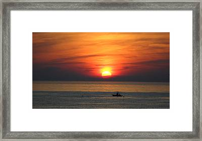 Framed Print featuring the photograph Sunrise Over Gyeng-po Sea by Kume Bryant