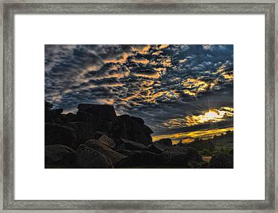 Sunrise Over Little Round Top Framed Print by Dave Sandt