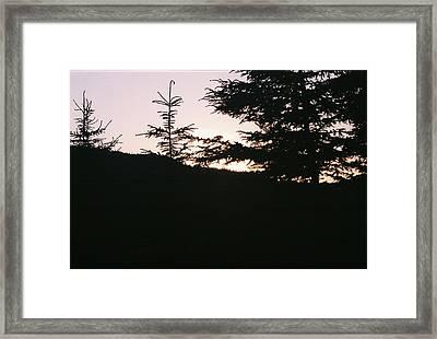 Sunrise Over Mt Still Framed Print by C E McConnell