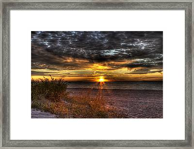 Sunrise Over New York Bay Framed Print