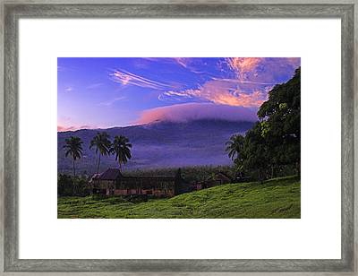 Framed Print featuring the photograph Sunrise Over Plantation Ruins- St Lucia by Chester Williams