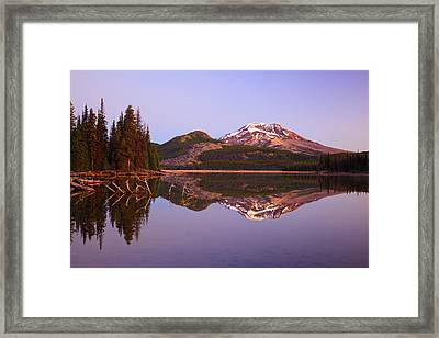 Sunrise Over Sparks Lake And South Framed Print by Craig Tuttle