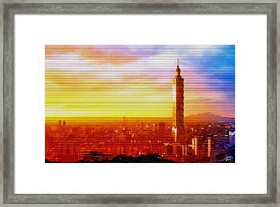 Sunrise Over Taipei Framed Print by Steve Huang