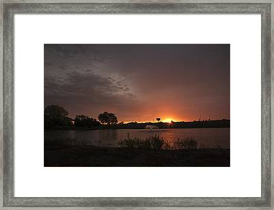 Sunrise Over The Duck Pond Framed Print by Melany Sarafis