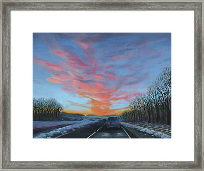 Sunrise Over The Highway Framed Print