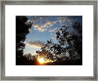 Sunrise Over The Hill Framed Print