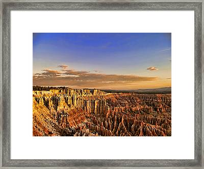 Framed Print featuring the photograph Sunrise Over The Hoodoos by Anne Rodkin