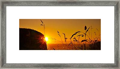 Sunrise Pano Framed Print by Svetlana Sewell