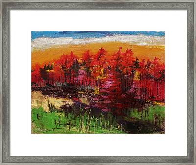 Sunrise Pastel John Williams Framed Print by John Williams