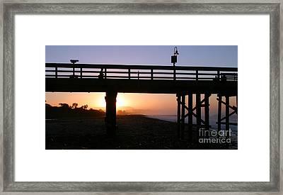 Sunrise Pier Ventura Framed Print