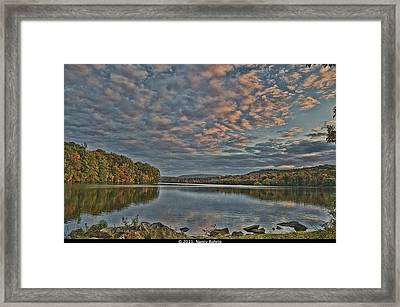 Sunrise Putnam Lake Framed Print by Nancy Rohrig