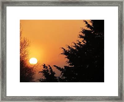 Sunrise Framed Print by Rebecca Overton
