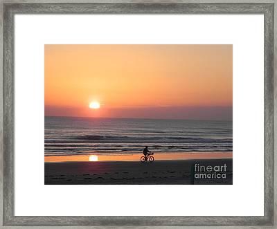 Sunrise Reflection Framed Print by Sandy Owens