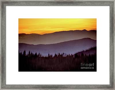 Sunrise Ridges Framed Print