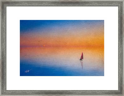 Sunrise Sail Framed Print by Michael Petrizzo