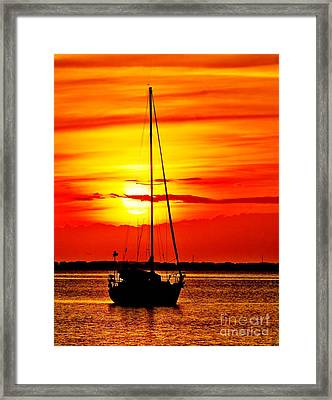 Sunrise Sailing Framed Print
