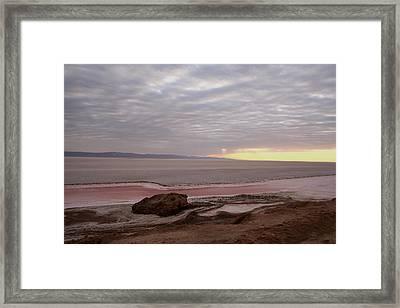 Sunrise Salt Lake - Tunisia  Framed Print by Simona  Mereu