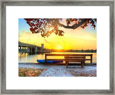 Sunrise Seista Drive Horizontal Framed Print by Jenny Ellen Photography