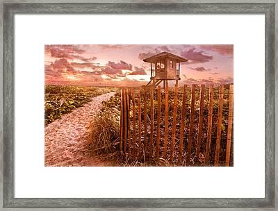 Sunrise Sentinel Vintage Framed Print by Debra and Dave Vanderlaan