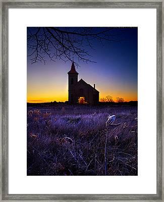 Sunrise Service Framed Print by Phil Koch