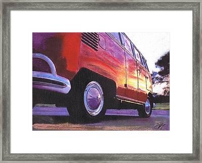 Sunrise Framed Print by Sharon Poulton