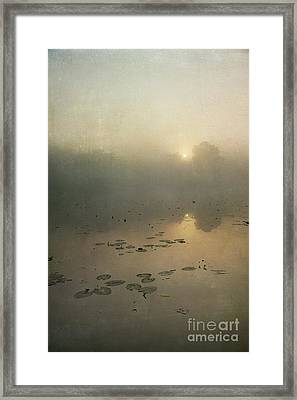 Sunrise Through Mist Framed Print by Paul Grand