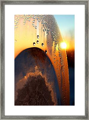 Sunrise Thru Ice Framed Print by Christy Patino