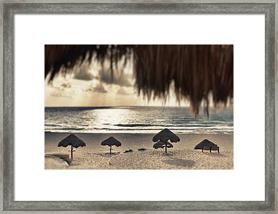 Sunrise Viewed From The Beach Framed Print by Bryan Mullennix