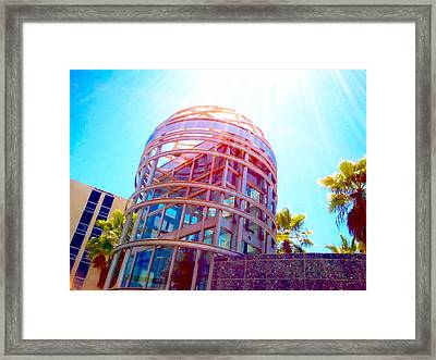 Sunroof Tower Framed Print by Romy Galicia