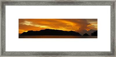 Sunscape Panorama  Curu National Wildlife Park Costa Rica Panorama Framed Print