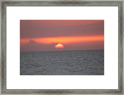 Framed Print featuring the photograph Sunset - Cuba by David Grant