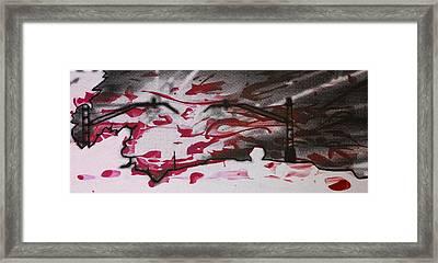 Sunset - Serigrafie Kunst Framed Print by Arte Venezia