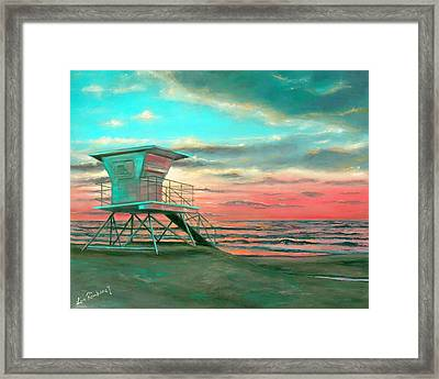 Sunset 1 Framed Print by Lisa Reinhardt